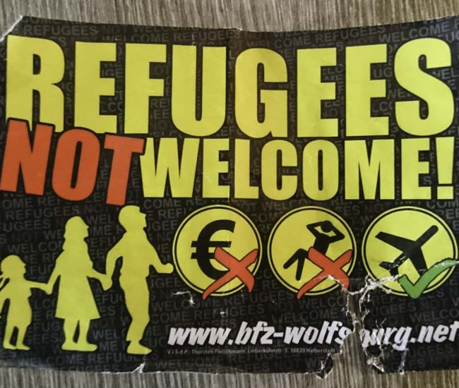 Refugees Not Welcome Nadr